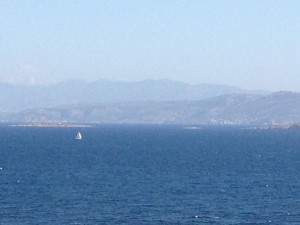 Sailboat on Saronic Sea
