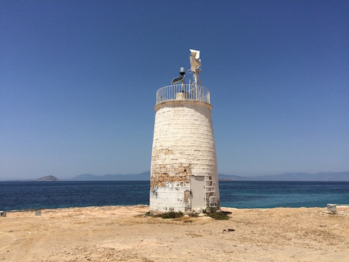 Lighthouse Aegina Island, Greece