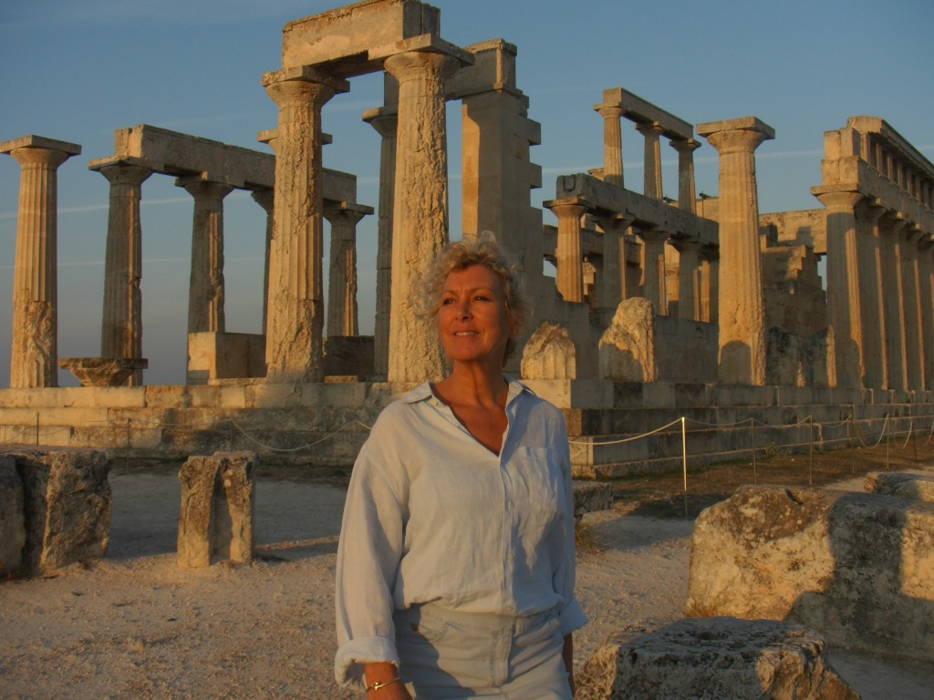 MH at the Temple of Aphaia on our island of Aegina