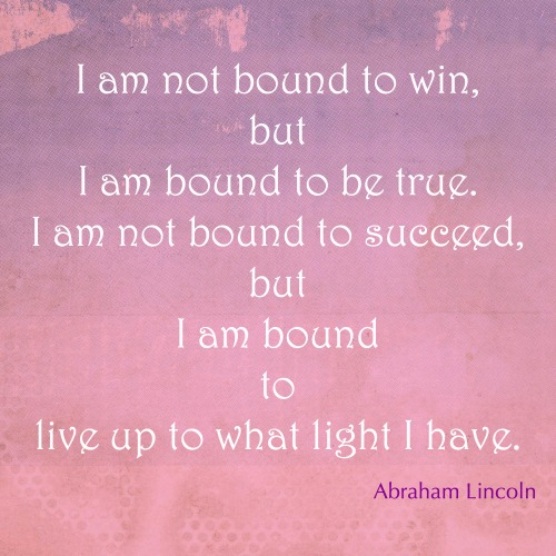 Do you live up to your own light?